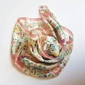 vintage Smithsonian institute silk floral scarf